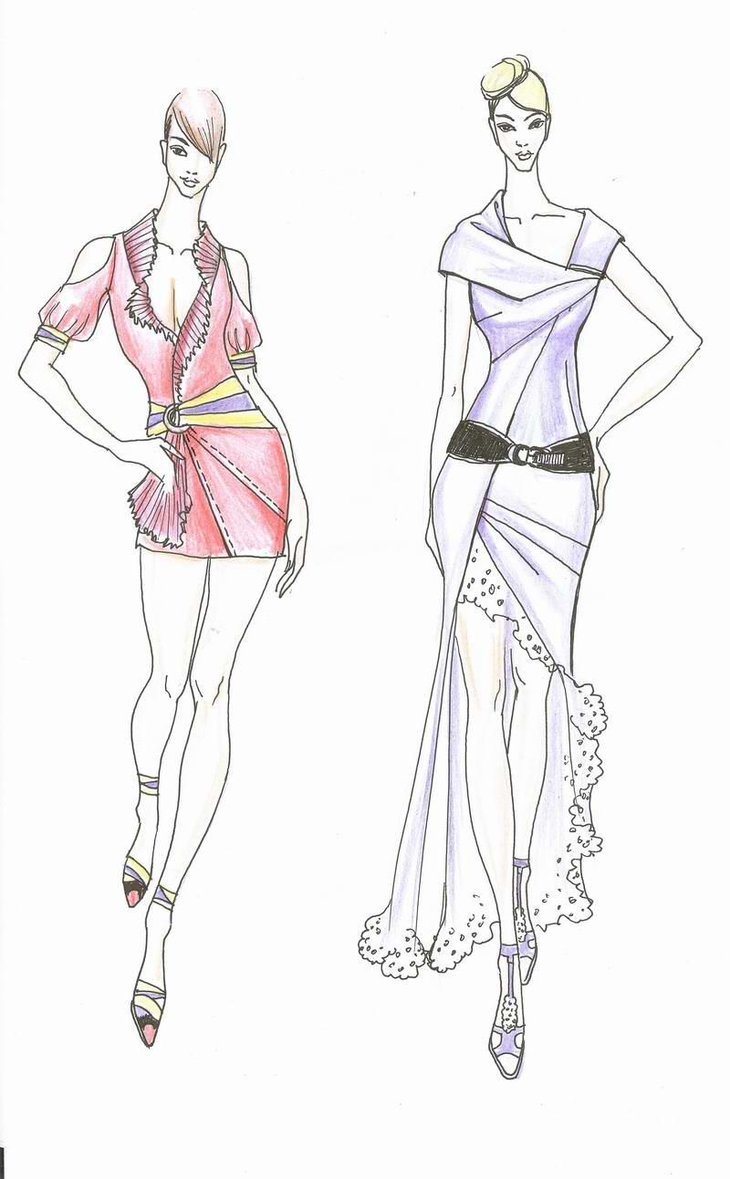 2008服装款式图手绘